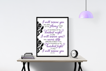Load image into Gallery viewer, Rescue by Lauren Daigle | Lyrics Wall Art