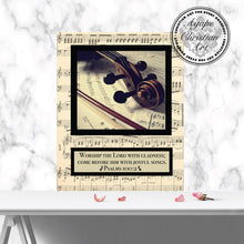 Load image into Gallery viewer, Joyful Violin | Psalm 100:2 Art Print