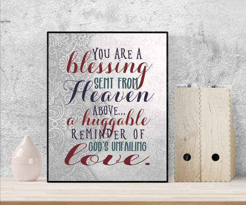 A Huggable Reminder of God's Unfailing Love | Art Print