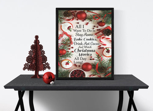 Cookies, Cocoa and Christmas Movies | Christmas Art Print