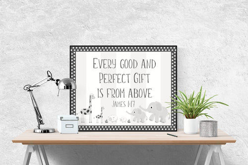 Every Good and Perfect Gift Is From Above | James 1:17 Art Print
