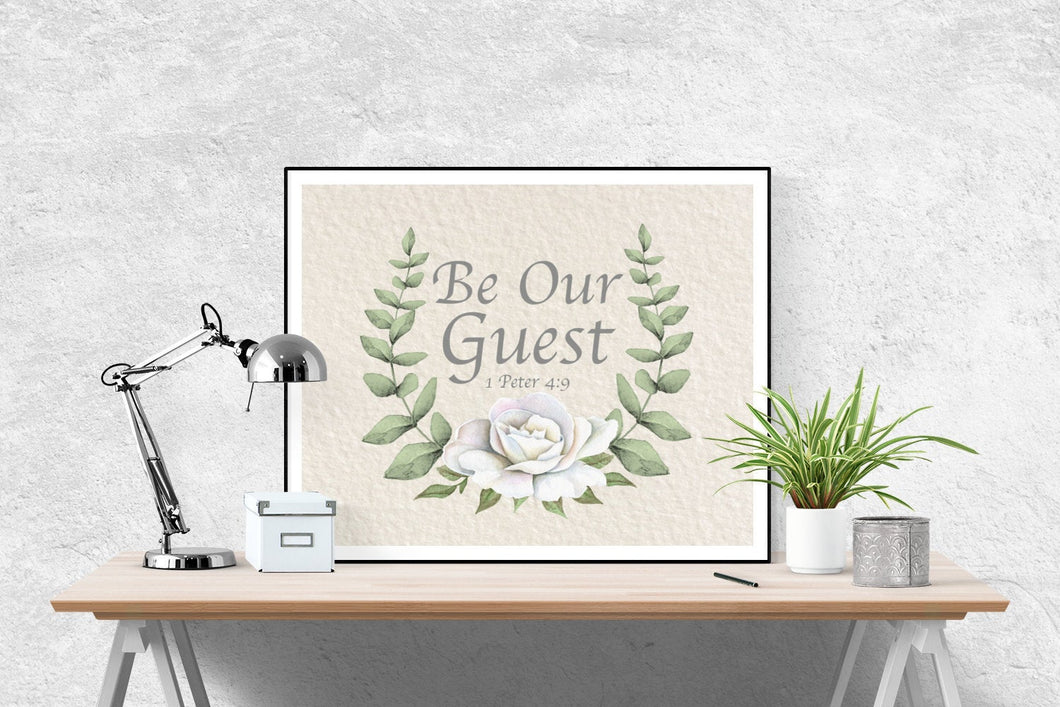 Be Our Guest | 1 Peter 4:9 Art Print