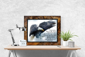 Isaiah 40:31 Art Print | Soar On Wings Like Eagles