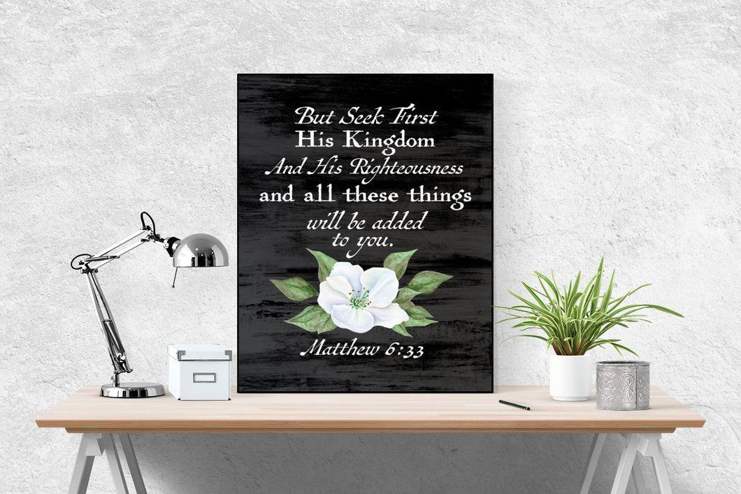 Matthew 6:33 Art Print | Seek First His Kingdom