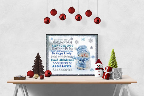 Snowman's Suggestions | Christmas Art Print