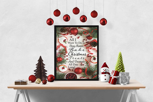 Christmas, Baking, and Decorating | Christmas Art Print