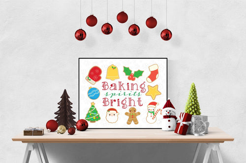 Baking Spirits Bright | Christmas Art Print
