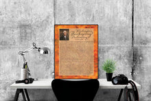 Load image into Gallery viewer, George Washington's Thanksgiving Proclamation | Art Print