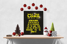 Load image into Gallery viewer, May The Lord Be With You | Joshua 1:9 Art Print | Star Wars
