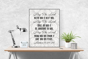 Numbers 6:24-26 Art Print | May The Lord Bless You and Keep You