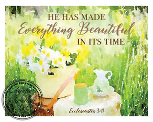 Ecclesiastes 3:11 Art Print | He Has Made Everything Beautiful In Its Time