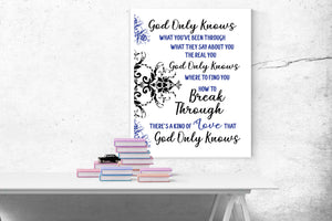 God Only Knows by King and Country | Lyrics Art Print