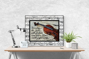 Worship The Lord With Gladness | Psalm 100:2 Art Print