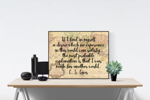 C.S. Lewis Quote Art Print | Created For Another World