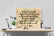 Load image into Gallery viewer, C.S. Lewis Quote Art Print | Created For Another World