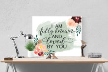 Load image into Gallery viewer, Known by Tauren Wells | Lyrics Wall Art Print
