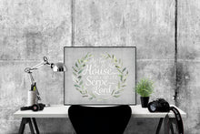 Load image into Gallery viewer, As For Me and My House, We Will Serve The Lord | Joshua 24:15 Art Print (Grey)