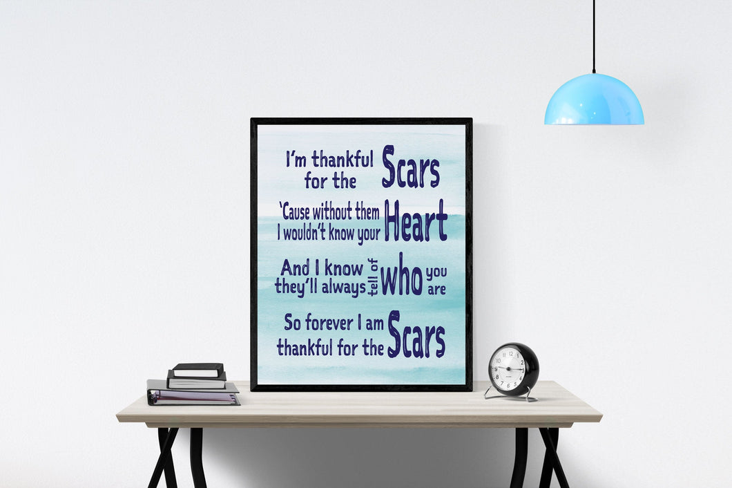 Scars by I AM THEY Song | Lyrics Art Print