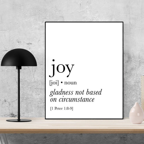 1 Peter 1:8-9 Art Print |Joy Is Gladness Not Based On Circumstance