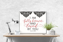 Load image into Gallery viewer, Known by Tauren Wells (Damask) | Lyrics Wall Art Print