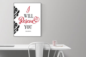 I Will Rescue You | Isaiah 46:4 Art Print