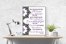 Load image into Gallery viewer, Who You Say I Am by Hillsong United Song | Lyrics Art Print