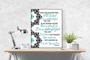 Who You Say I Am by Hillsong United Song | Lyrics Art Print