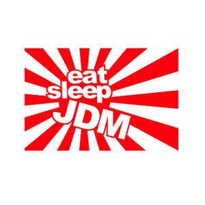 EAT SLEEP JDM Car Sticker Die Cut