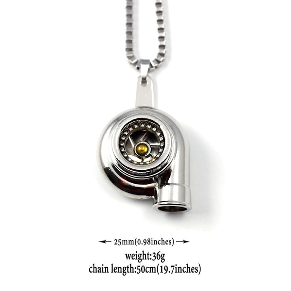 JDM Mini Turbocharger Necklace Pendant - Stainless Steel