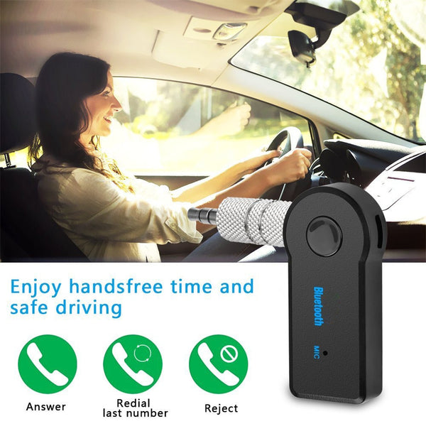 Mini 3.5MM Jack AUX Audio MP3 Music Bluetooth Receiver Car Kit