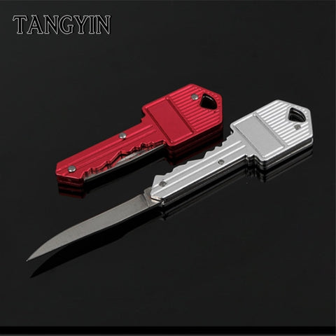 Folding Knife Keychain Key Ring