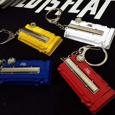 High quality JDM metal VTEC DOHC engine Keychain