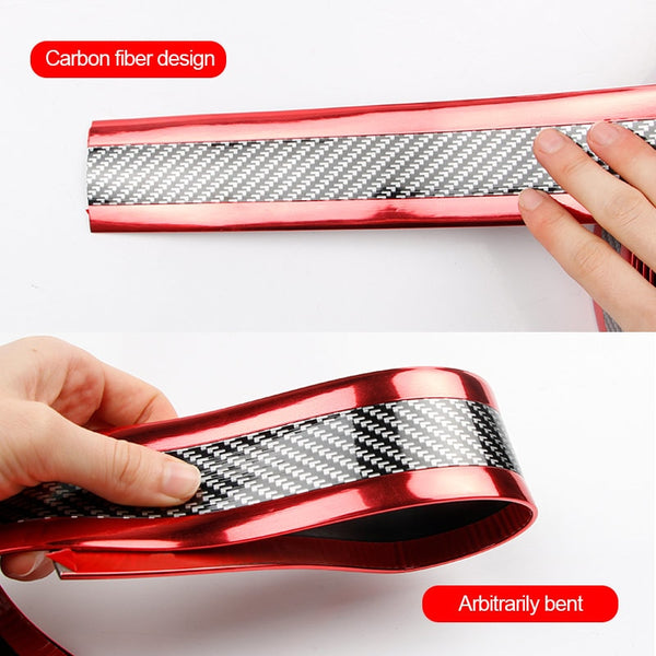 Car Auto Interior Protector Film Door Sills Carbon Fiber