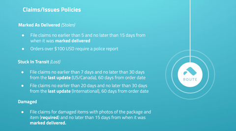 Route Claims and Issues Policies Graphic