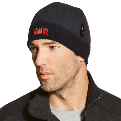 Ariat - Black Flame Resistant Polartec Beanie ME.AP.FLAME RESISTANT ARIAT INTERNATIONAL, INC.