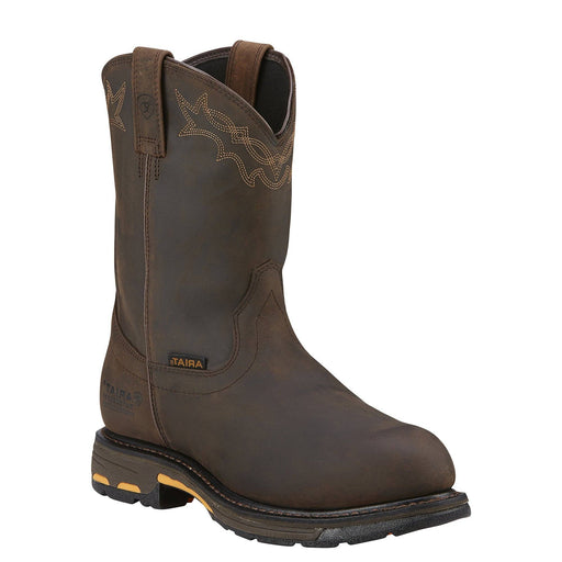 "Ariat Men's 10"" Workhog® Pull On H2O - Round Composite Toe MENS WORKCOMP TOEWSTRN WORK ARIAT INTERNATIONAL, INC."