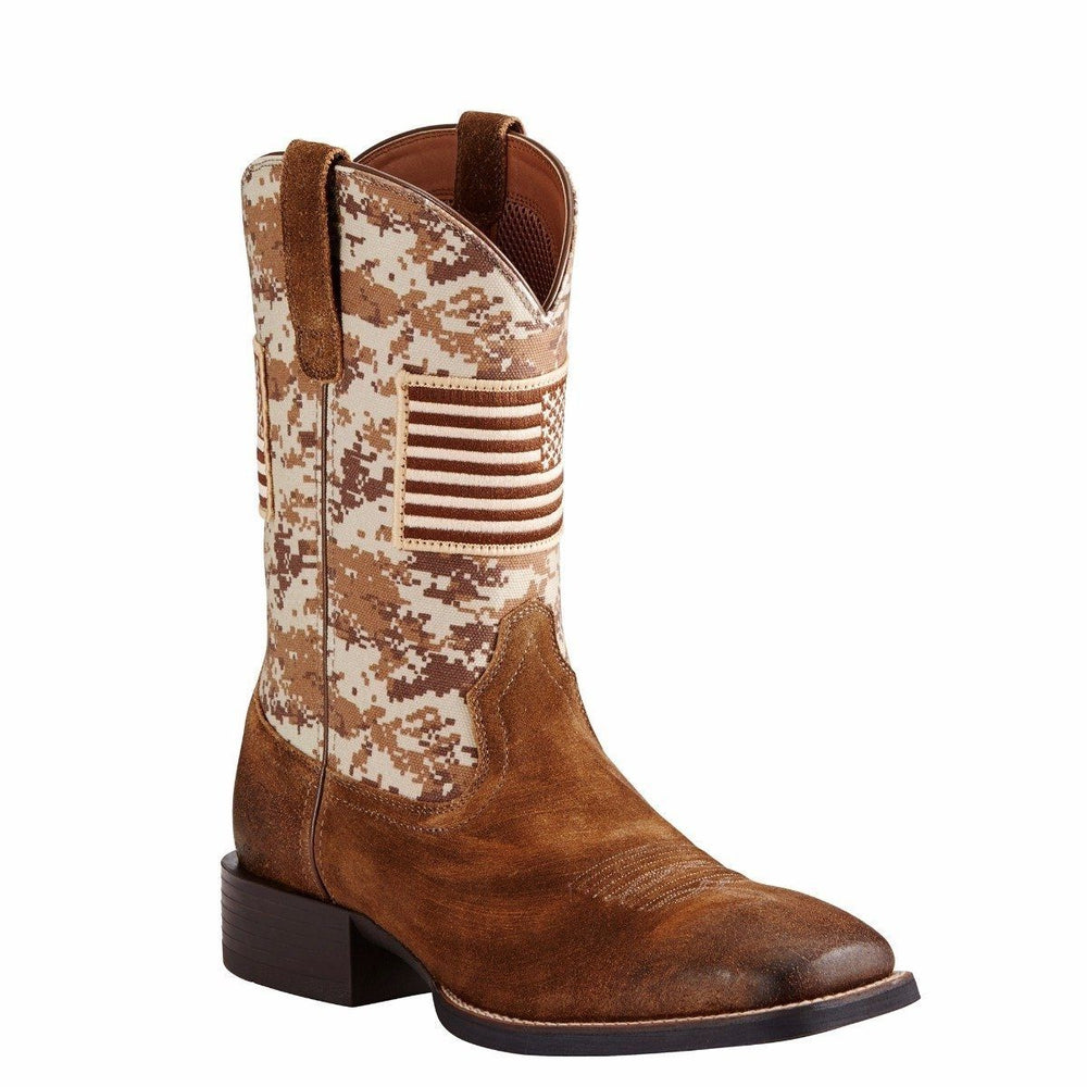 "Ariat Men's 11"" Sand Camo Sport Patriot - Wide Square Toe MENS WESTERN SQUARETOE ARIAT INTERNATIONAL, INC."