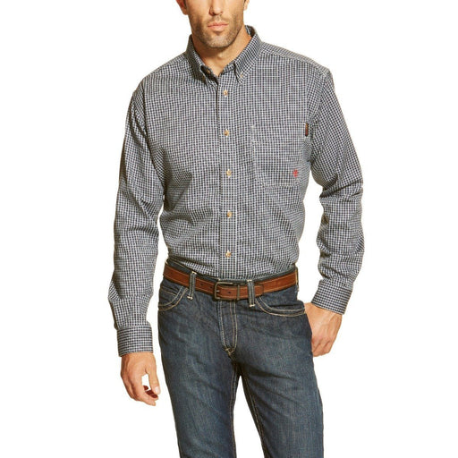 Ariat Men's Flame-Resistant Button Down Blue Multi Work Shirt ME.AP.FLAME RESISTANT ARIAT INTERNATIONAL, INC.