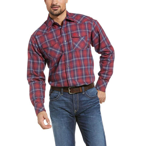 Ariat Men's - FR Colquitt Retro Fit Snap Work Shirt ME.AP.FLAME RESISTANT ARIAT INTERNATIONAL, INC.