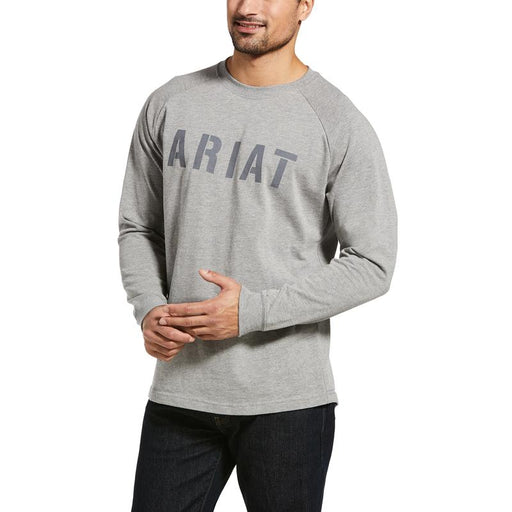 Ariat Men's - Gray Rebar Cotton Strong™ Block T-Shirt WORK AP.SHIRT T-SHIRT ARIAT INTERNATIONAL, INC.