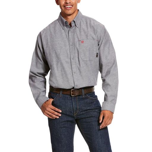 Ariat Men's - Navy Twill Durastretch Classic Work Shirt ME.AP.FLAME RESISTANT ARIAT INTERNATIONAL, INC.