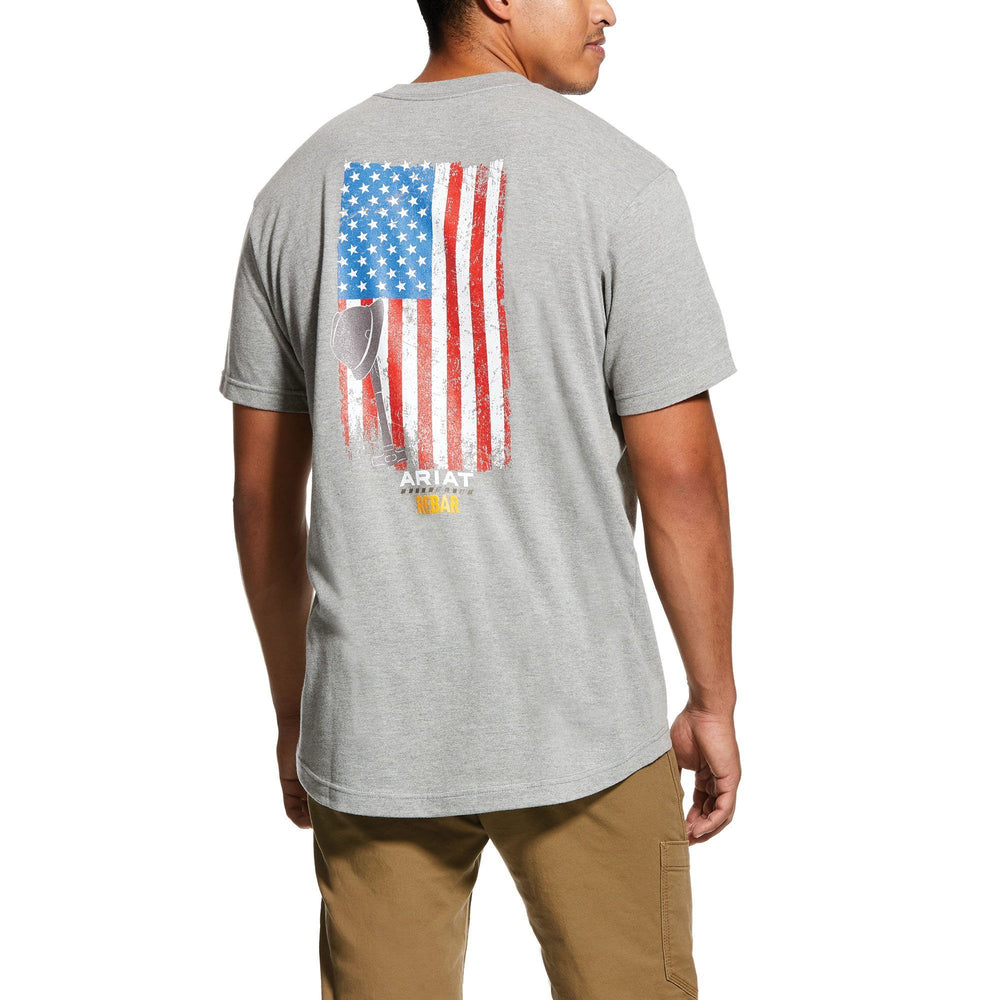 Ariat Men's - Rebar Cottonstrong American Grit T-Shirt WORK AP.SHIRT T-SHIRT ARIAT INTERNATIONAL, INC.