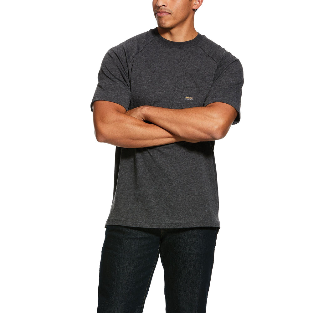 Ariat Men's - Rebar Cottonstrong Charcoal T-Shirt WORK AP.SHIRT T-SHIRT ARIAT INTERNATIONAL, INC.