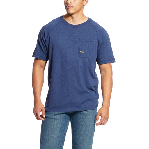 Ariat Men's - Rebar Cottonstrong Navy T-Shirt WORK AP.SHIRT T-SHIRT ARIAT INTERNATIONAL, INC.
