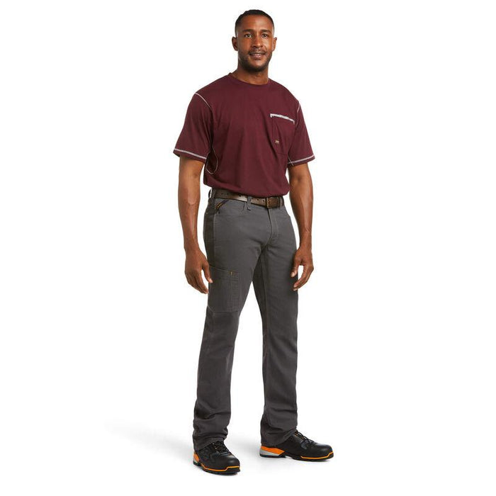 Ariat Men's - Rebar M4 Low Rise DuraStretch Made Tough Stackable Straight Leg Pant WORK AP.CARGO CANVAS ARIAT INTERNATIONAL, INC.