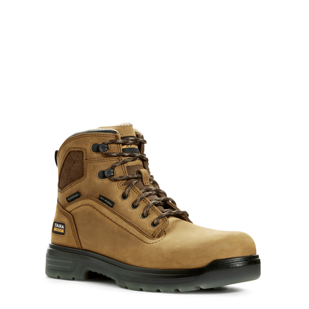 "Ariat Men's - Turbo Waterproof 6"" H20 - Carbon toe MENS LACEWATRPROOFSAFETY TOE ARIAT INTERNATIONAL, INC."