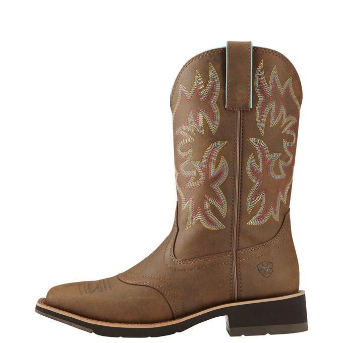 "Ariat Women's - 10"" Delilah - Wide Square Toe WOMENS BOOT WESTERNRUBBR SOLE ARIAT INTERNATIONAL, INC."