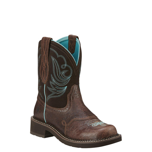 "Ariat Women's 8"" Fatbaby® Heritage Dapper Royal Chocolate – Square Toe WOMENS BOOT WESTERNRUBBR SOLE ARIAT INTERNATIONAL, INC."