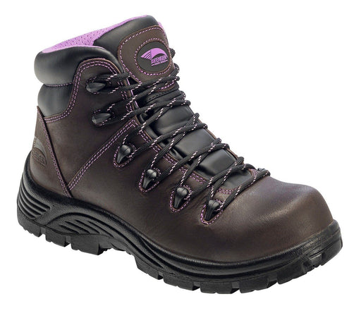 Avenger Women's Brown Hiker - Round Composite Toe WOMEN LACEWTRPROOFSAFETY TOE FOOTWEAR SPECIALTIES INT