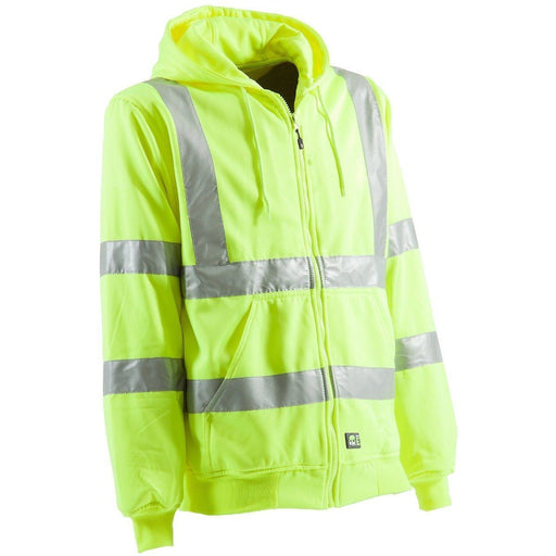 Berne Apparel Men's Hi-Visibility Lined Hooded Sweatshirt ME.AP.OUTERWEAR HI VISABIL BERNE APPAREL CO.